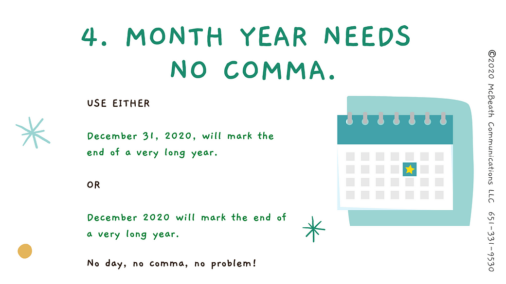 Month Year needs no comma