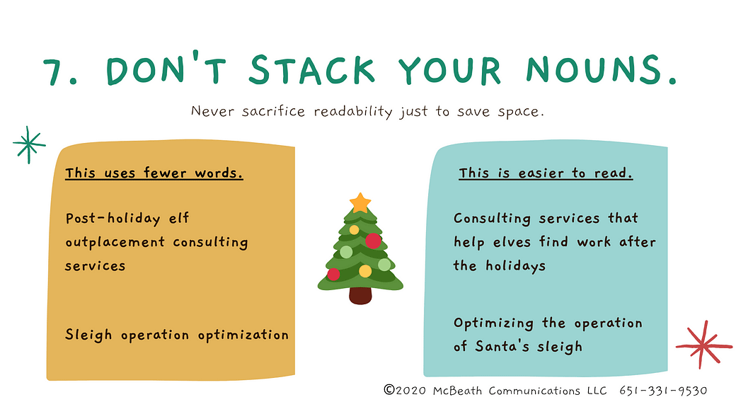 Don't stack your nouns